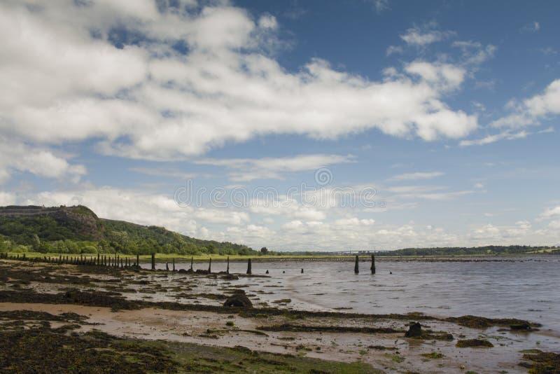 Floden Clyde på en vacker somerdag arkivfoton