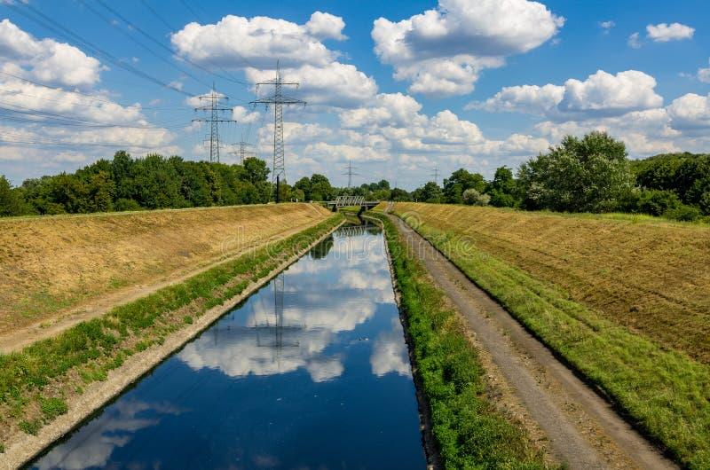 Floden Emscher vid Essen royaltyfria bilder