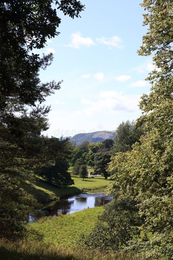 Floden Kent i Cumbria arkivbild
