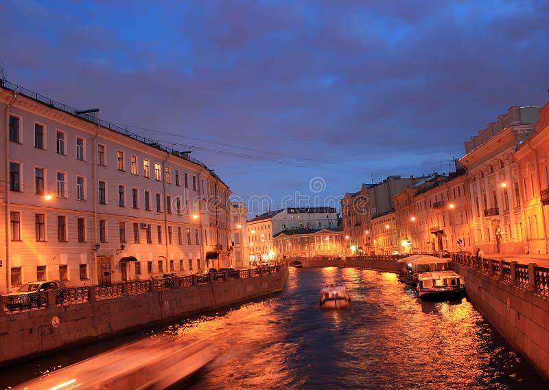 Floden Moika, St Petersburg, Ryssland royaltyfri bild