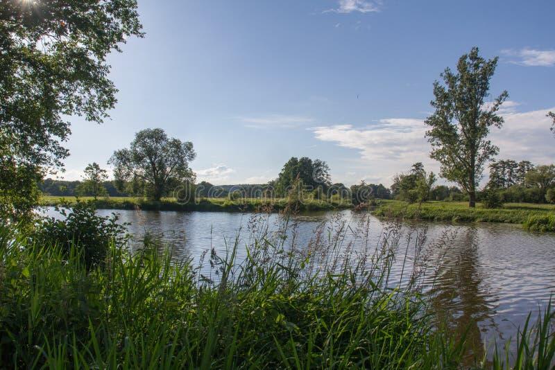 Floden Naab i Bayern arkivbild