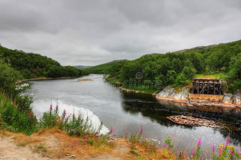 Floden Titovka arkivbilder