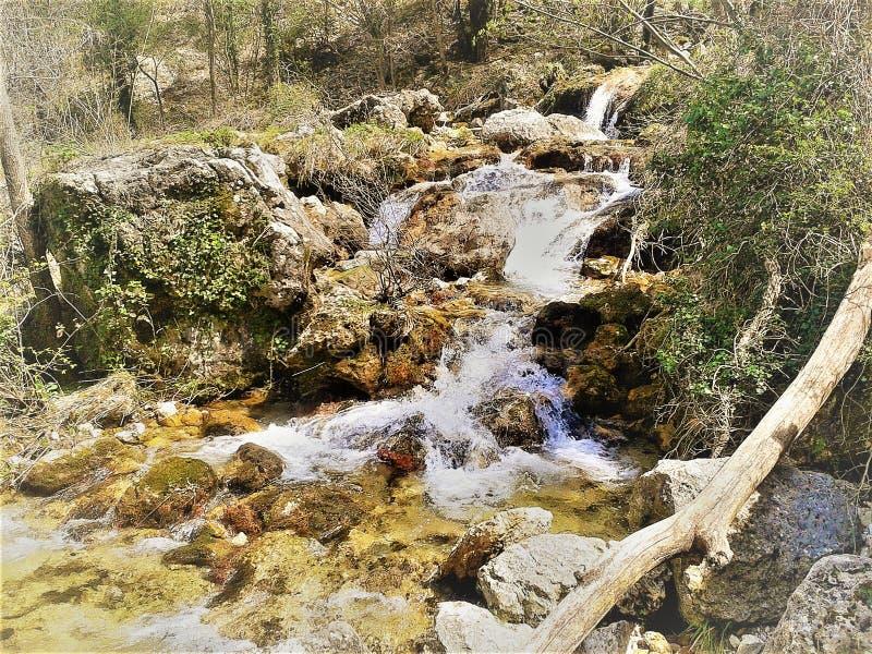 Floder av Spanien Chorros del RÃo Mundo royaltyfria bilder