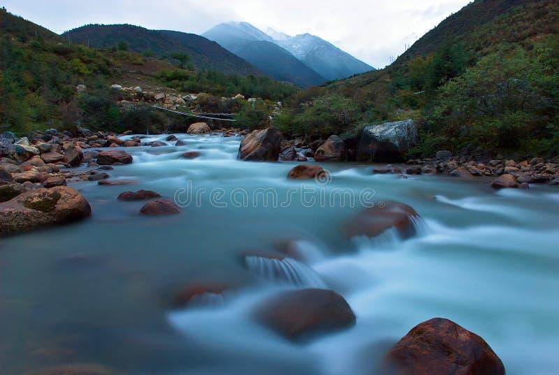 Floder under snön royaltyfria bilder