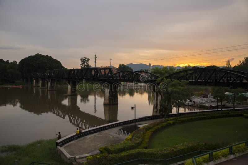 FlodKwai bro, historisk bro för Kanjanaburi världskrig 2 royaltyfri bild