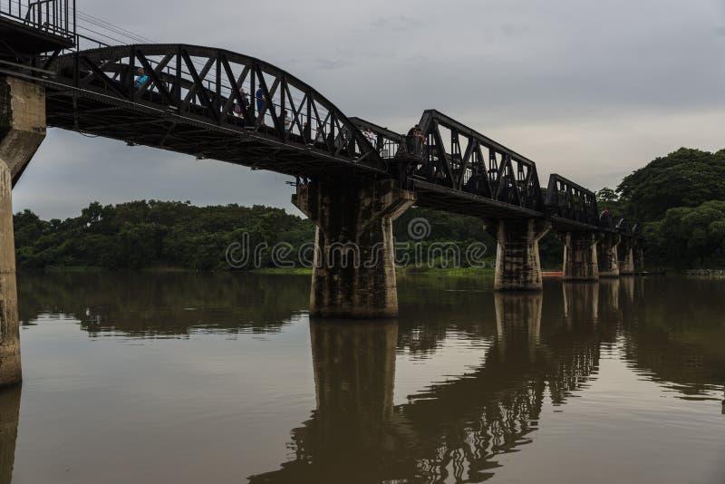 FlodKwai bro, historisk bro för Kanjanaburi världskrig 2 arkivbild