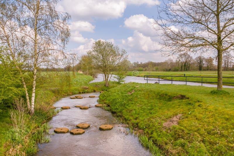 FlodlandskapRegge Nederländerna royaltyfri bild
