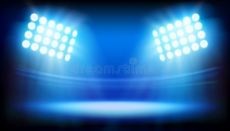 Flodljus som exponerar stadion abstrakt vektorillustration stock illustrationer