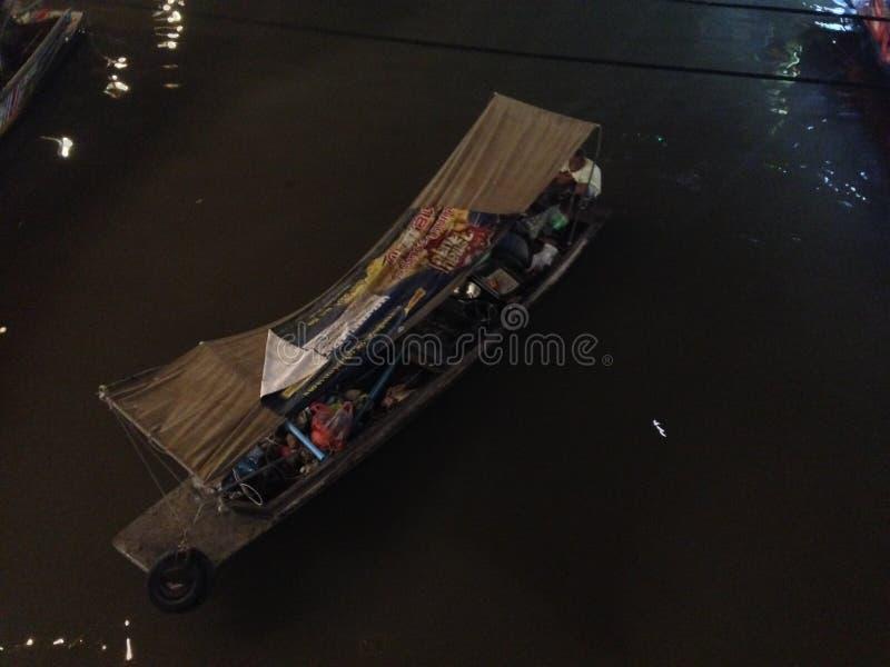 Flodmarknad Thailand royaltyfri bild