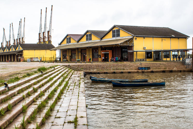 Flodport arkivfoto