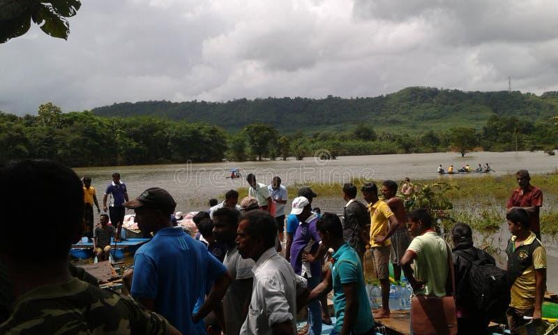 Flods w Ratnapura Sri Lanka obraz royalty free