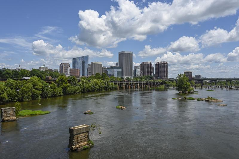 Flodstad Richmond Virginia RVA arkivbilder