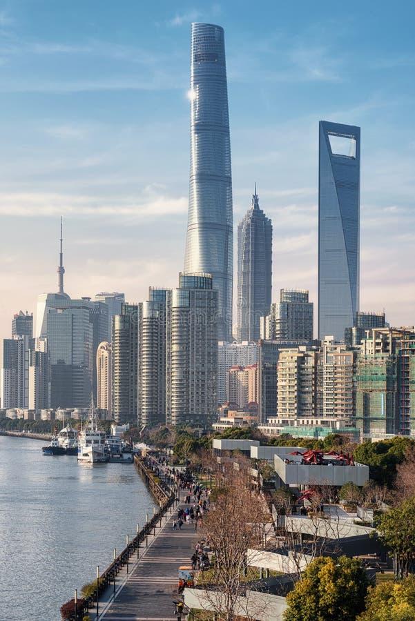 Flodstranden parkerar, Shanghai arkivfoto