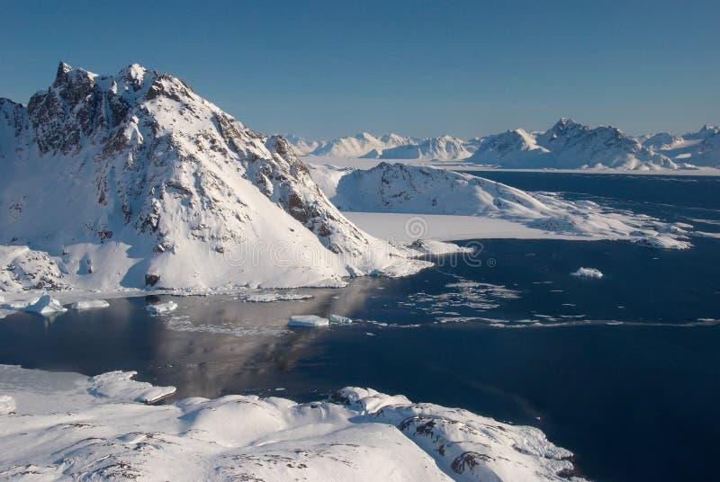 floe Greenland lodowe góry obraz stock