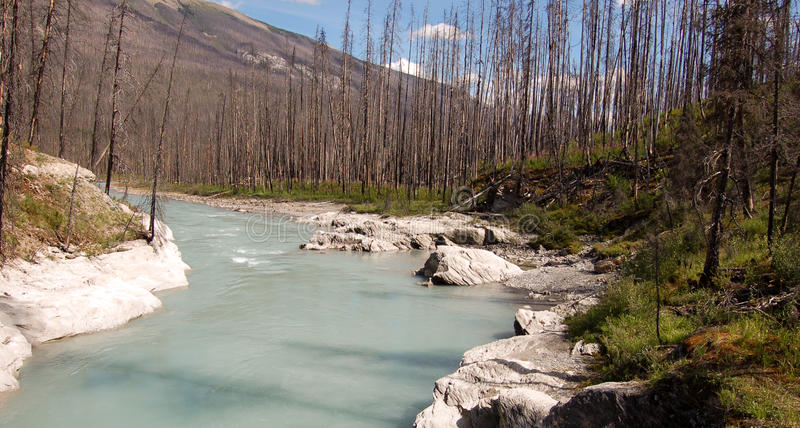 Floe-Nebenfluss stockfoto