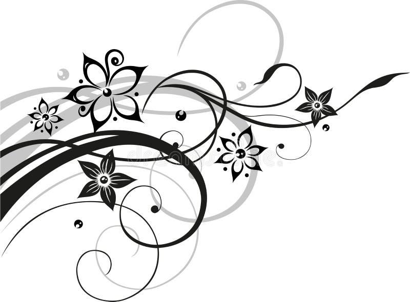 Floers, zarcillo, abstracto libre illustration