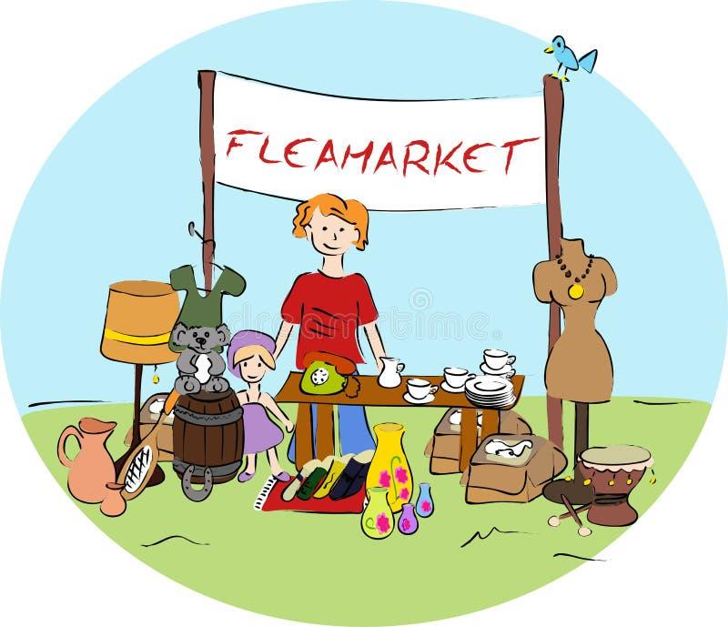Flohmarkt stock abbildung