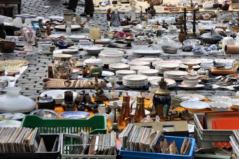 Flohmarkt, Brüssel lizenzfreie stockbilder