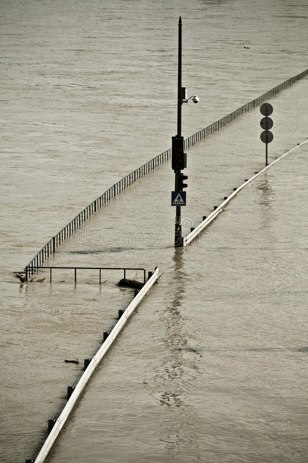 Download Flood stock photo. Image of budapest, water, summer, pole - 14655916