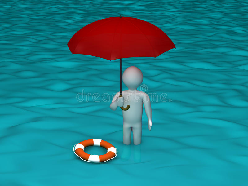 Download The Flood stock illustration. Illustration of person - 20324220