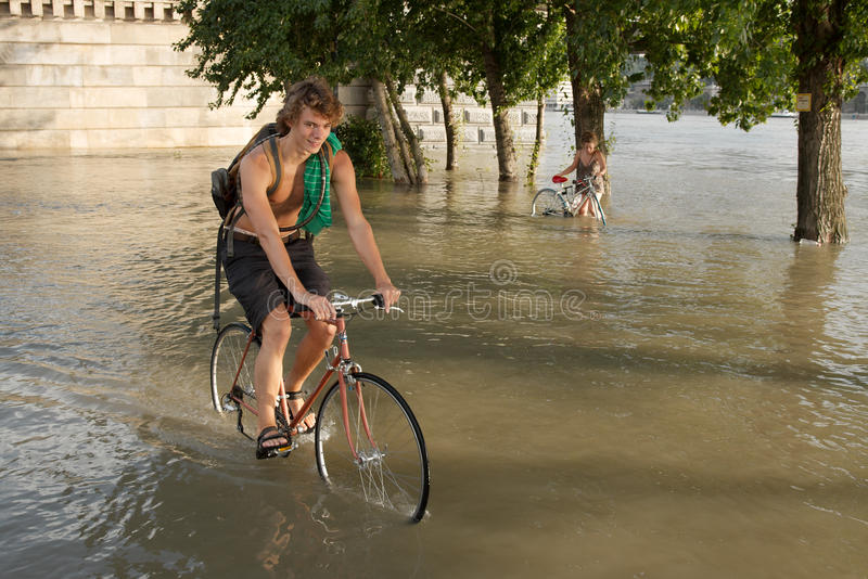 Flood in Budapest royalty free stock photos