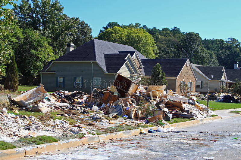 Flood Cleanup Royalty Free Stock Photos