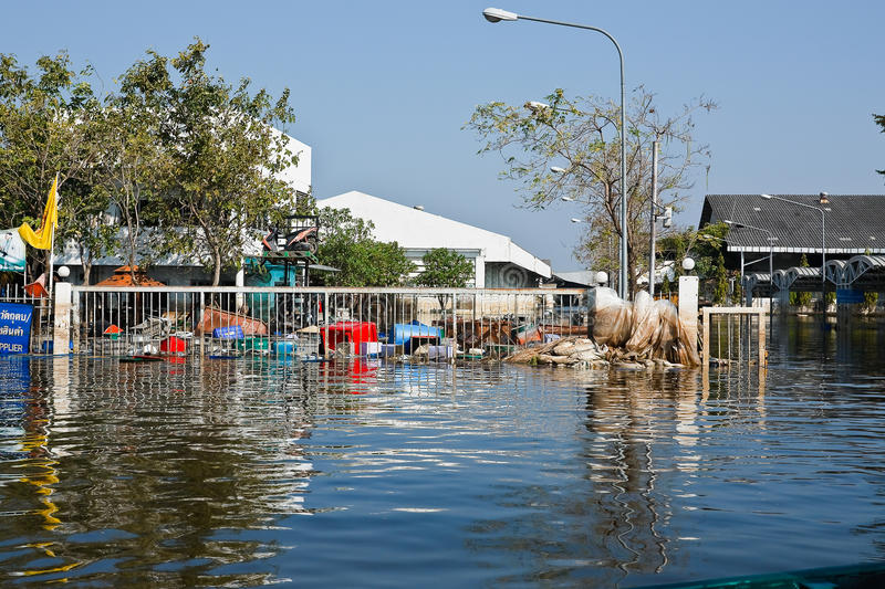 Flood Factory In Nava Nakorn Industrial Thailand Editorial Photography