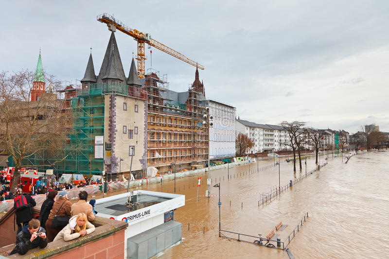 Download Flood in Frankfurt editorial image. Image of disaster - 17945260