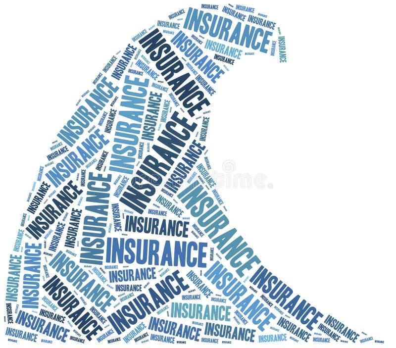 Flood insurance. Word cloud illustration. royalty free illustration