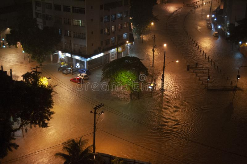 Flood in Joana river in Rio de Janeiro royalty free stock photos