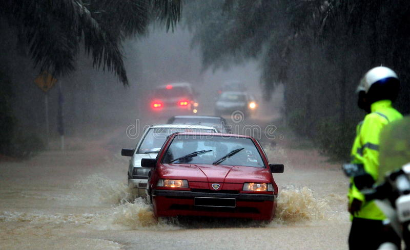 Flood, Malaysia. LABIS January 30th, 2011. Heavy rains cause irregular flood North Labis Estate, Johor, Malaysia royalty free stock photo