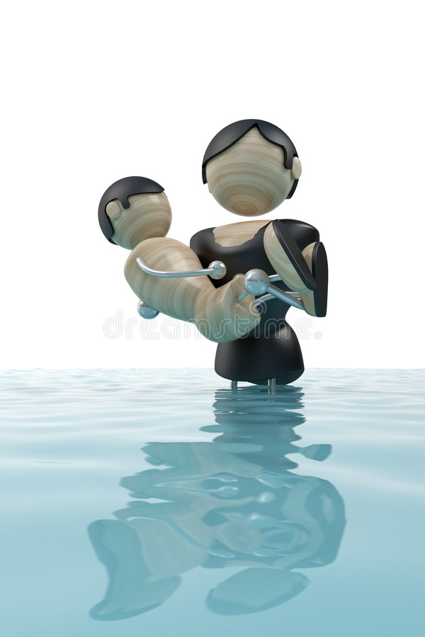 Download Flood, man is the Saviour stock illustration. Illustration of cyclone - 5016039
