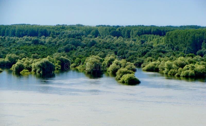 Flood near the Novi Sad royalty free stock image
