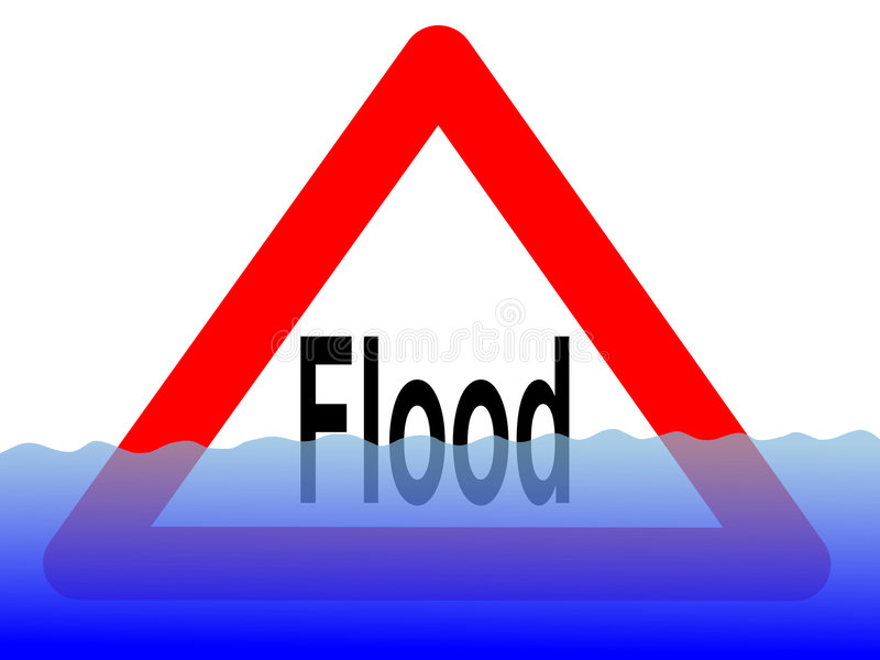 Download Flood sign with water stock illustration. Illustration of notice - 2728009