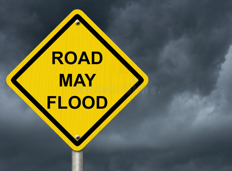 Download Flood Warning stock photo. Image of careful, ominous - 34168148