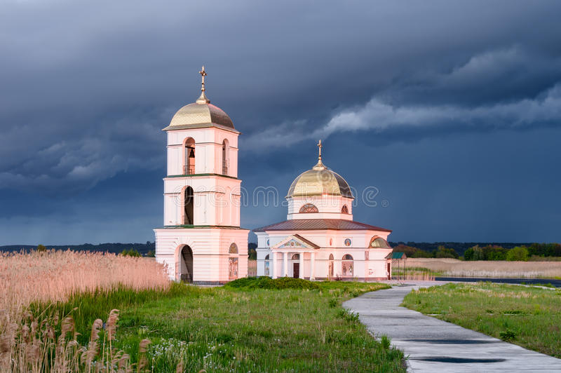 The flooded church royalty free stock photo
