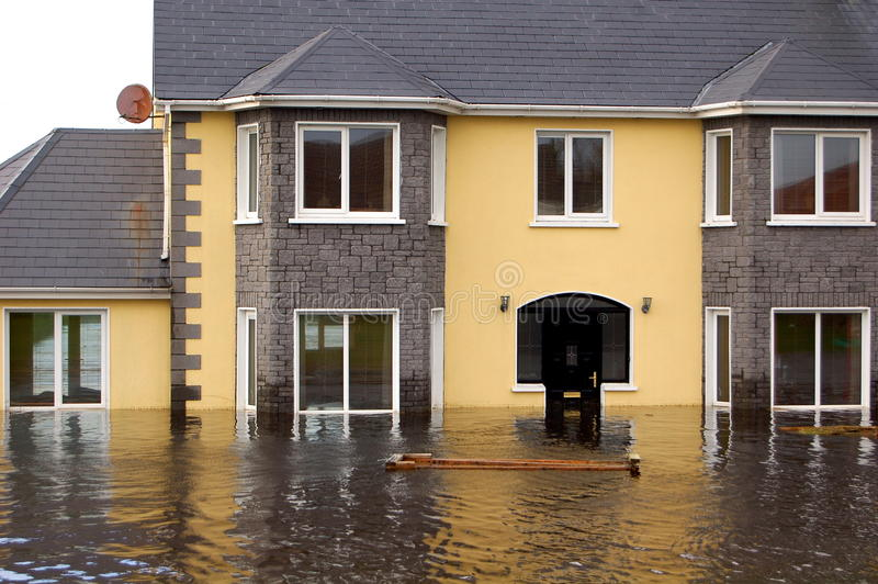 Flooded Family Home royalty free stock photography