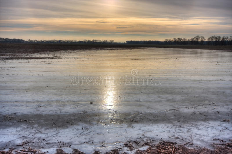Download Flooded And Frozen Potato Field. Stock Photo - Image: 28759050