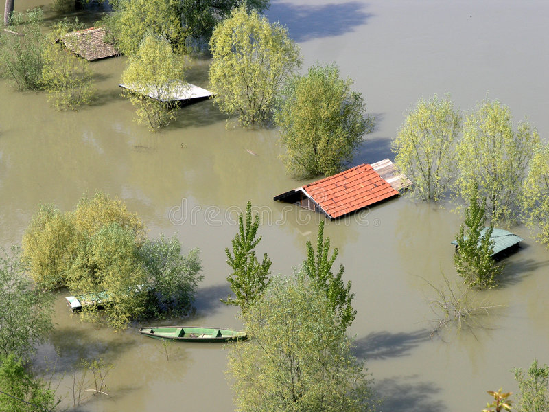 FLOODED HOMES royalty free stock photos