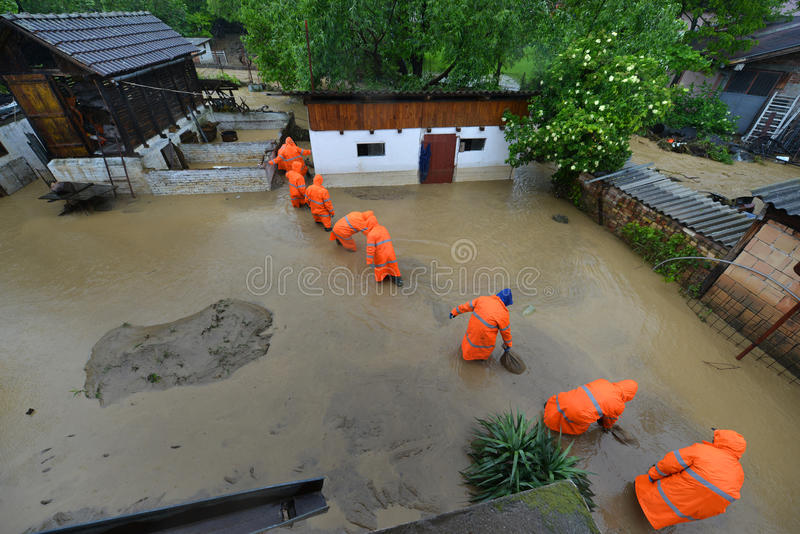 FLOODED HOMES royalty free stock image