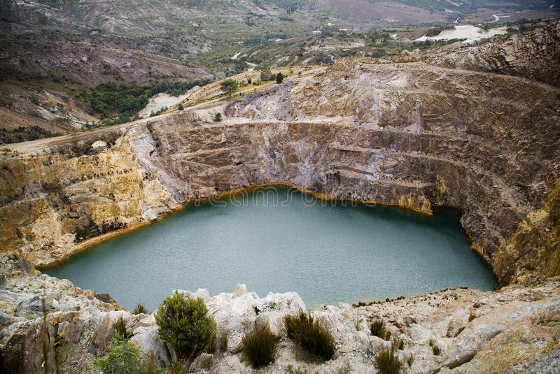 Flooded Open Cut Mine. A former open cut mine, now flooded royalty free stock photography
