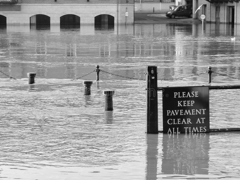 Flooded river in York stock images