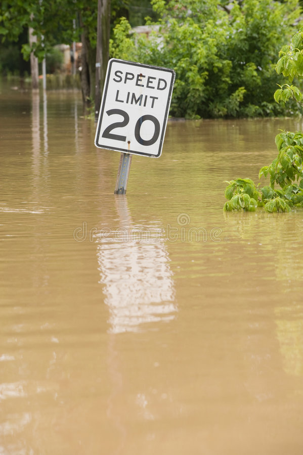 Free Flooded Road Stock Image - 5475741