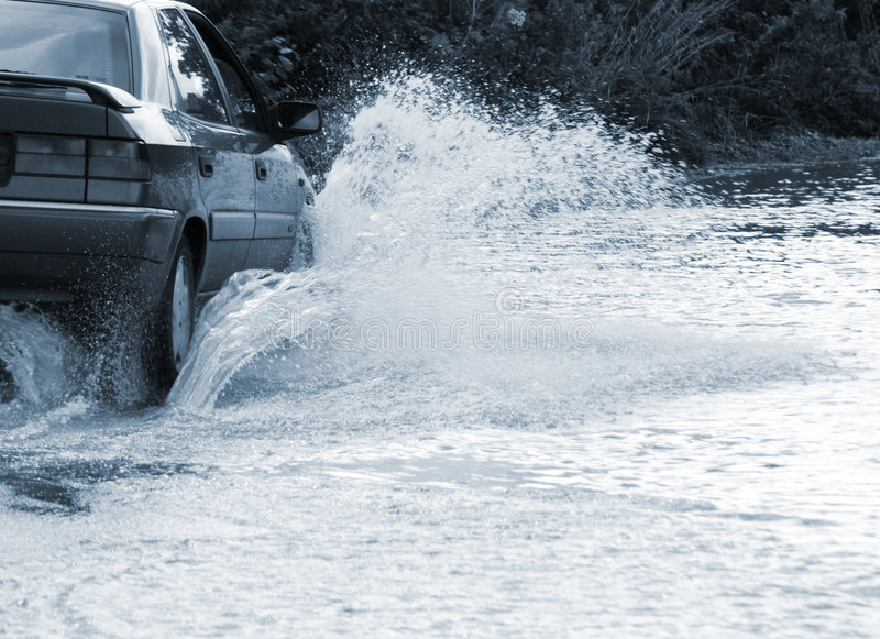 Flooded Road Stock Photography
