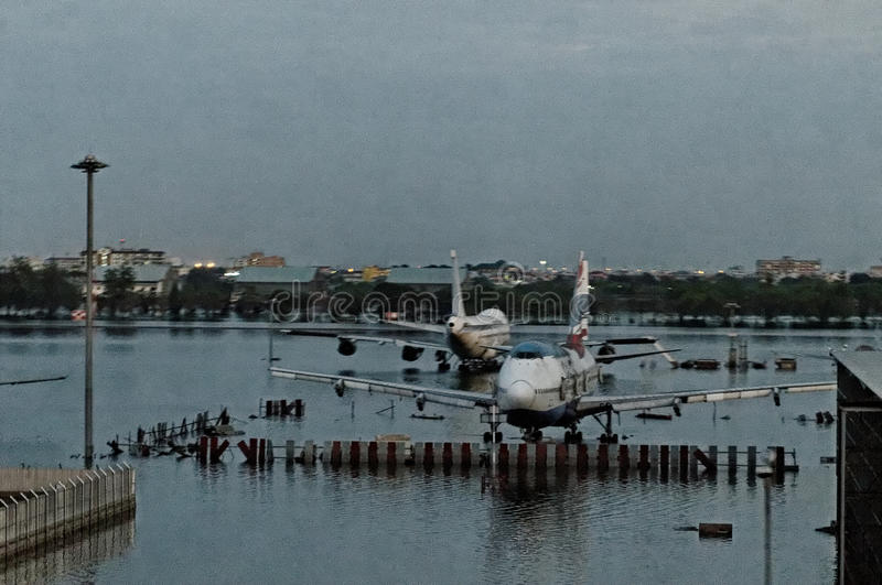 Download Flooded runaway editorial image. Image of grounded, airplanes - 22595515