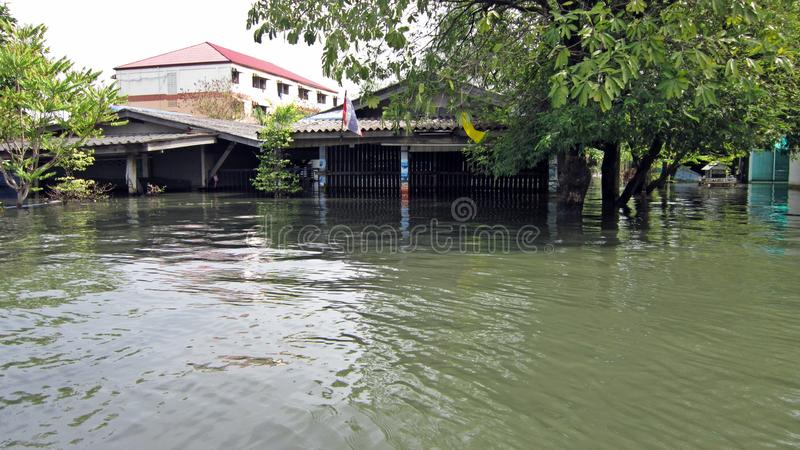Download Flooded Shops Editorial Stock Image - Image: 21982594