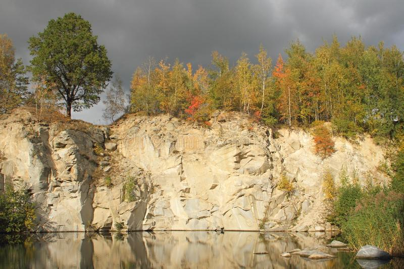 Flooded Stone Quarry Stock Photography