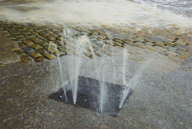 Download Flooded Street stock image. Image of burst, leaking, flood - 22776797