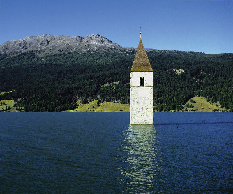 Download Flooded Tower stock image. Image of reflection, tyrol, water - 153739