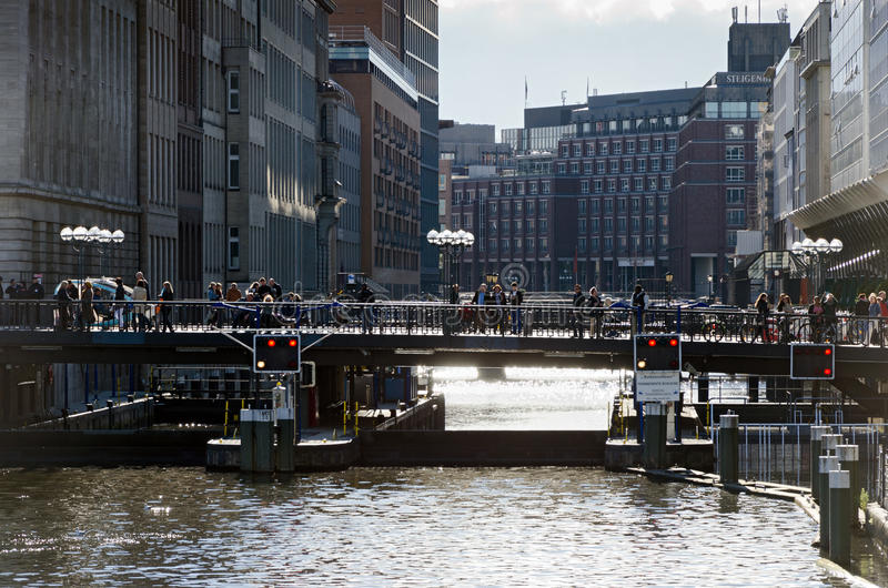 Download Floodgate. Hamburg editorial image. Image of pedestrians - 34289840
